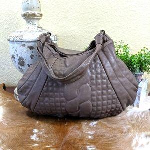 Vtg David & Scotti Hobo Leather Shoulder Bag